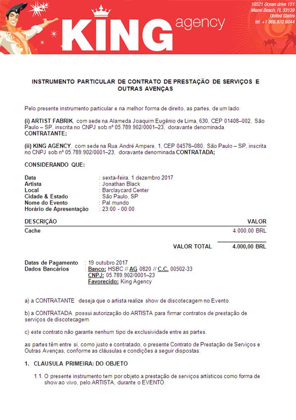 Exemplo de contrato