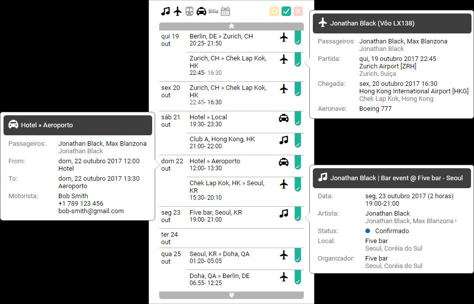 Captura de tela da funcionalidade de logística