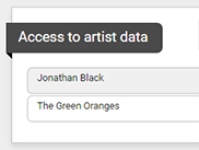 Limit user access to artist data